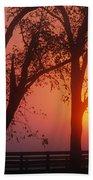 Trees In The Sunrise Beach Towel
