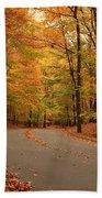 Trees Of Autumn - Holmdel Park Beach Sheet