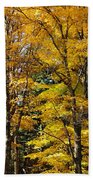 Trees Of Gold Beach Towel