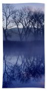 Trees On The Lake Front Beach Towel