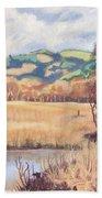 Cors Caron Nature Reserve Tregaron Painting Beach Towel