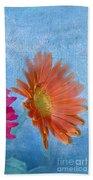 Triptych Gerbera Daisies-three Beach Towel