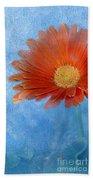 Triptych Gerbera Daisy-one Beach Towel