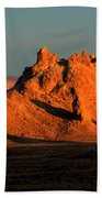 Trona Pinnacles Panorama Beach Towel by Bob Christopher