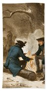 Troops At Valley Forge Beach Towel