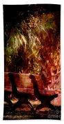 Tropical Bench Beach Towel by Susanne Van Hulst