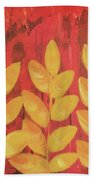Tropical Foliage Beach Towel