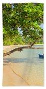 Tropical Island Scenery Beach Towel