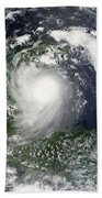 Tropical Storm Karl Over The Yucatan Beach Towel