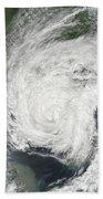 Tropical Storm Muifa Over China Beach Towel