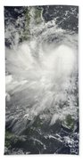 Tropical Storm Nock-ten Beach Towel