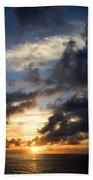 Tropical Sunset Beach Towel