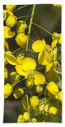 Tropical Yellow Flowers Beach Towel