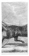 Trotting Horse, 1861 Beach Towel