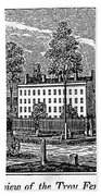 Troy Female Seminary, 1841 Beach Towel