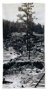Truckee River - California Looking Toward Donner Lake - C 1865 Beach Towel