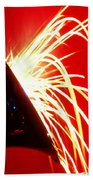 Trumpet Shooting Sparks Beach Towel