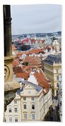 Trumpeter - Prague Old Town Square Beach Towel