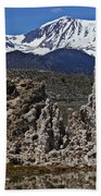 Tufa At Mono Lake California Beach Towel