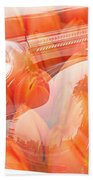 Tulip Car Abstract Beach Towel