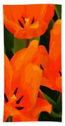 Tulip Trio Beach Towel