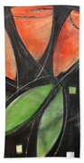 Tulips And Water Glass Beach Towel