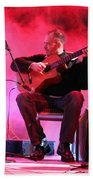 Turab Guitar Player Victor Kawas Beach Towel