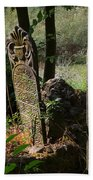 Turkish Cemetery In Rural Mugla Province Beach Towel