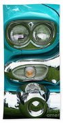 Turquoise Headlight Beach Towel