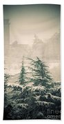 Turret In Snow Beach Towel by Silvia Ganora