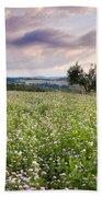 Tuscany Flowers Beach Towel