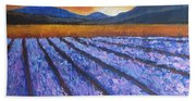 Tuscany Lavender Field Beach Towel