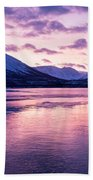 Twilight Above A Fjord In Norway With Beautifully Colors Beach Towel