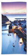 Twilight Glow Staithes Beach Towel