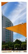 Twin Towers Beach Towel by Carlos Caetano