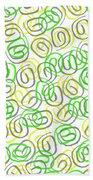 Twirls Beach Towel by Louisa Knight