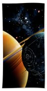 Two Artificial Moons Travelling Beach Towel