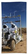 Two Astronauts Take A Ride On Scout Beach Towel