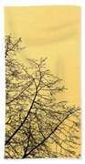 Two Birds In A Tree Beach Towel