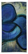 Two Blue Poppies Beach Towel