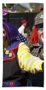 Two Clowns Beach Towel