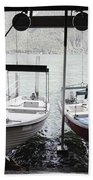 Two Hanging Boats Beach Towel