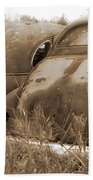 Two Old Rear Ends-sepia Beach Towel