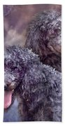 Two Poodles Beach Towel