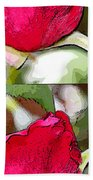 Two Rose Buds Beach Towel