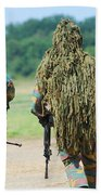 Two Snipers Of The Belgian Army Dressed Beach Towel