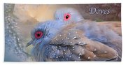 Two Turtle Doves Card Beach Towel