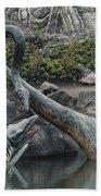 Tylosaurus And Elasmosaurus Beach Towel