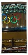 Tyne Bridge At Night II Beach Towel