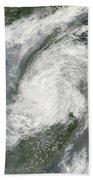 Typhoon Haikui Makes Landfall Beach Towel